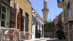 Quiet back street in Limassol Stock Footage