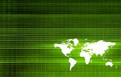 Global partners in export trade software art Stock Illustration