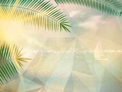 Stock Illustration of Abstract seaside view poster template