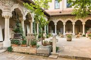 Stock Photo of Stavropoleos Monastery Courtyard