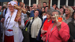 Catholic religious event Stock Footage