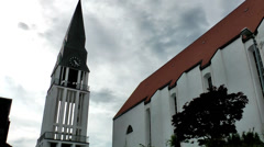 Europe Norway city of Molde 007 church and church tower against sky Stock Footage