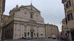 Italy, Rome, corso Vittorio Emmanuele. Stock Footage