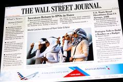 The Wall Street Journal Newspaper Stock Photos