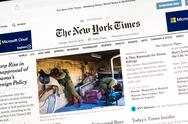 Stock Photo of The New York Times Newspaper
