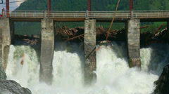 Chemal dam Stock Footage