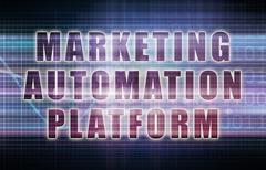 Marketing automation platform or map on business chart Piirros