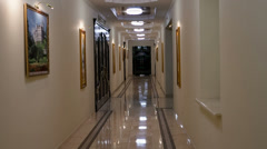 Hallway interior Stock Footage