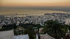 Haifa panoramic timelapse 1213 4 4K Stock Footage