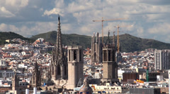 Types of Barcelona aerial view. - stock footage