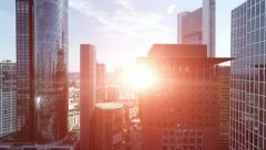 Skyline skyscrapers. city cityscape. modern architecture buildings. aerial view Stock Footage