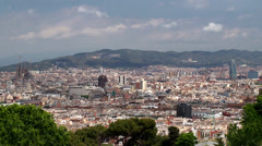 Types of Barcelona aerial view from the Montjuïc hill. Stock Footage