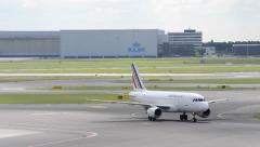 Air France airplane Stock Footage