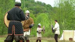 Celtic warrior fight 11 Stock Footage