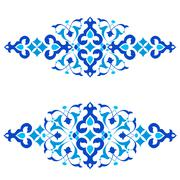 Ottoman motifs blue design series of fifty three Stock Illustration