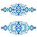 Stock Illustration of ottoman motifs blue design series of fifty three