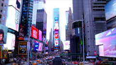 Times Square Timelapse at Day - Sped Up Stock Footage