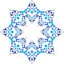 Stock Illustration of ottoman motifs blue design series of fifty five version