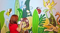 Mural art Stock Footage