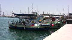 Limassol Harbor in southern Cyprus Stock Footage