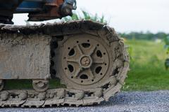 Bulldozer tracks Stock Photos