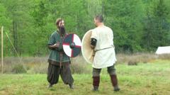 Celtic warrior fight 15 Stock Footage