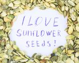Stock Photo of I love sunflower seeds