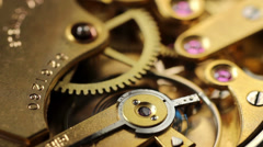 Mechanism of mechanical watch Stock Footage