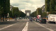 Arc de triomphe at the Champs-Élysées Paris - stock footage