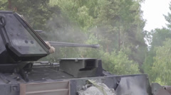 Bradley Fighting Vehicle during Combined Resolve II Gunnery Stock Footage
