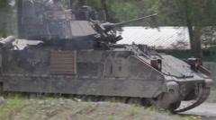 Bradley Fighting Vehicle during Combined Resolve II Gunnery Stock Footage