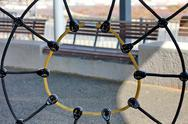Stock Illustration of rope spider web in playground