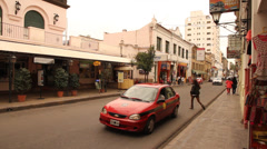 Downtown in the City of Salta, Argentina Stock Footage