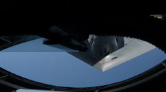 B2 Spirit stealth bomber Aerial Refuel Stock Footage