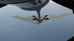 B2 Spirit stealth bomber Aerial Refuel Stock Footage