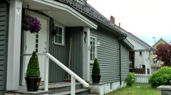 Europe Norway city of Molde 018 house entrances Stock Footage