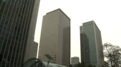 CANARY WHARF building wide shot Stock Footage