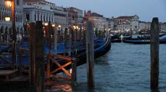 Nightfall in Venice Stock Footage