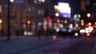 Stock Video Footage of Defocused Lights of a Big City