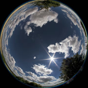 Stock Video Footage of 360X185 Degrees Fisheye - Cumulus clouds Timelaps (Allsky / Fulldome / Texture)