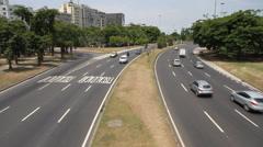 Traffic in Rio de Janeiro Stock Footage