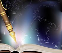 traveler diary - stock illustration