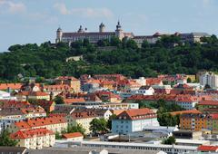 Würzburg, Fort Marienburg and City, Bayern, Deutschland - stock photo
