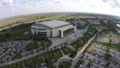 BB&T Arena in Sunrise aerial Stock Footage
