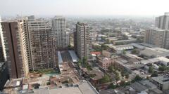 Panorama of Santiago de Chile Stock Footage