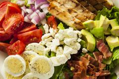 Healthy hearty cobb salad Stock Photos