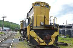 Diesel locomotive - stock photo