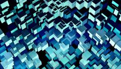 Stylistic Looping Cubes Background 6 Stock Footage