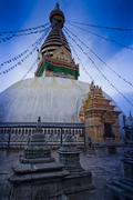 nepal temple - stock photo