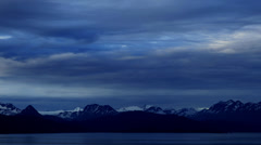 Time lapse: Clouds over Alaskan mountains and glacier Stock Footage